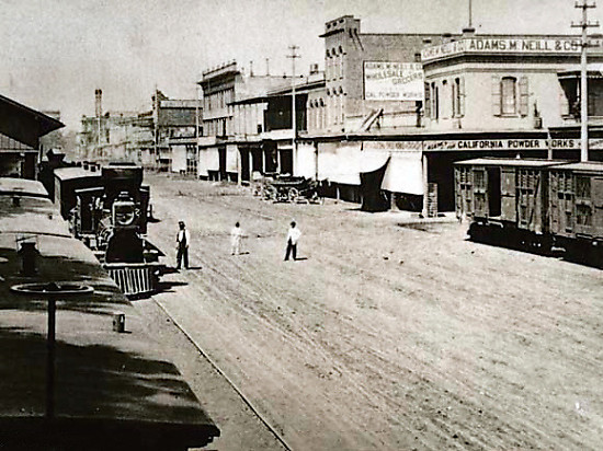 Front Street in Sacramento, 1869