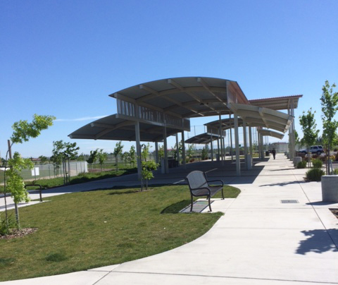 Meeting location for hike at North Natomas Regional Park