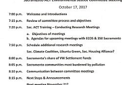 Sac ACT October 17 EJ Meeting Agenda