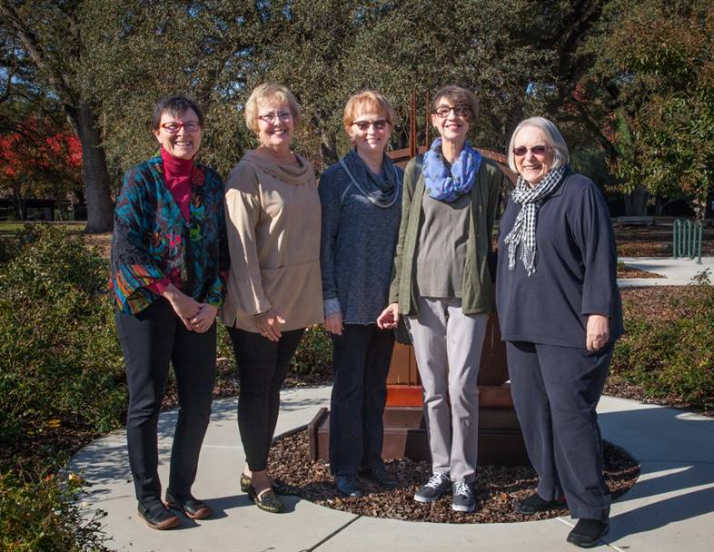 2017-2018 Program Council Members, L-R: Deirdre Downes, Patty Budding, Marian Ashe, Tamara Olson, Linda Roth.