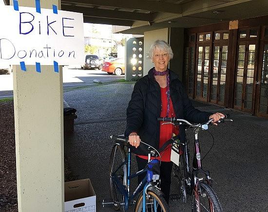 Christine and bikes